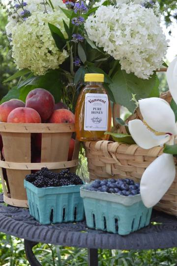 Get ready for your summer weekend with Arkansas blueberries, blackberries and peaches from Vanzant's. Don't forget to try out our pure honey!